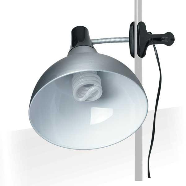 LAMPE STUDIO ARTISTE SUR PINCE 32 W ARGENT / NOIR