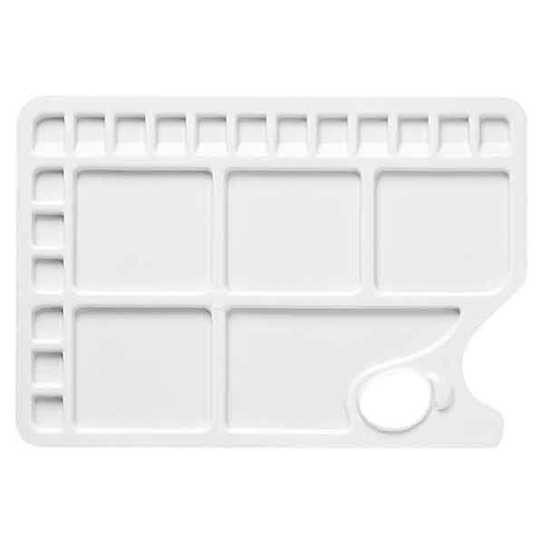 PALETTE PLASTIQUE RECTANGULAIRE 34.5 X 23.5 CM 23 CASES