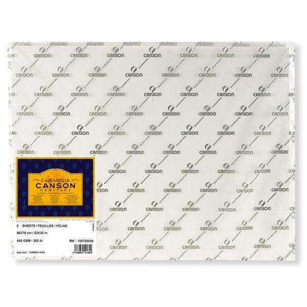 HERITAGE FEUILLES, POCHETTES FEUILLE HERITAGE 56 X 76 640G GRAIN FIN