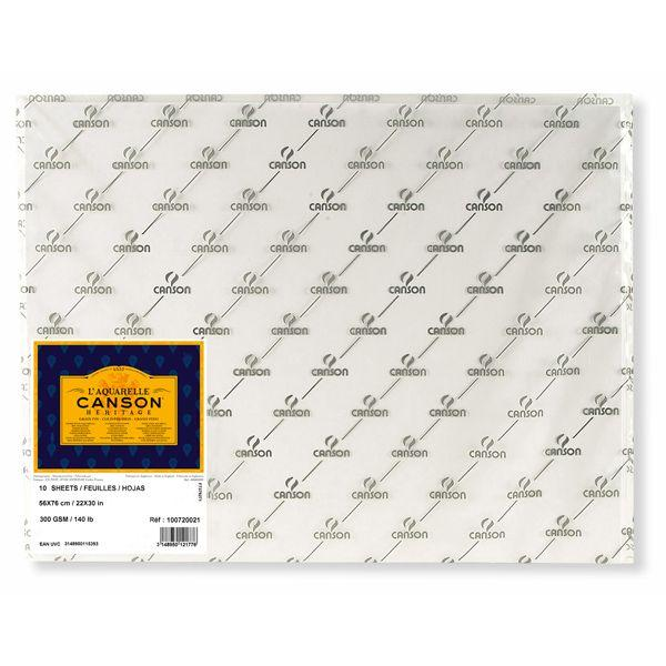 HERITAGE FEUILLES, POCHETTES FEUILLE HERITAGE 56 X 76 300G GRAIN FIN