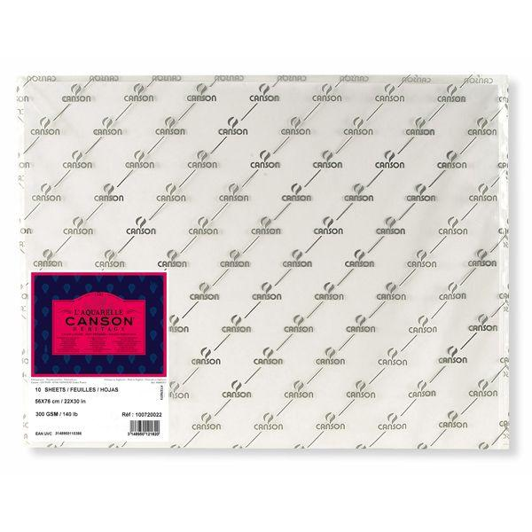 HERITAGE FEUILLES, POCHETTES FEUILLE HERITAGE 56 X 76 300G GRAIN SATIN