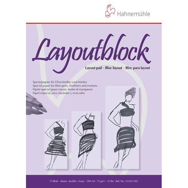 HAHNEMUHLE BLOC LAYOUT 75 G   75 FEUILLES   A3 29.7 X 42