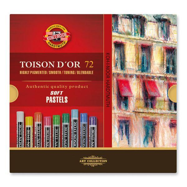 ETUI DE 72 PASTELS RONDS ø 9 MM