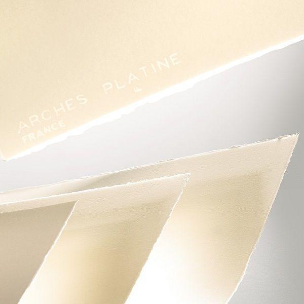 ARCHES PLATINE FEUILLE ARCHES PLATINE 56 X 76 310 G BLANC