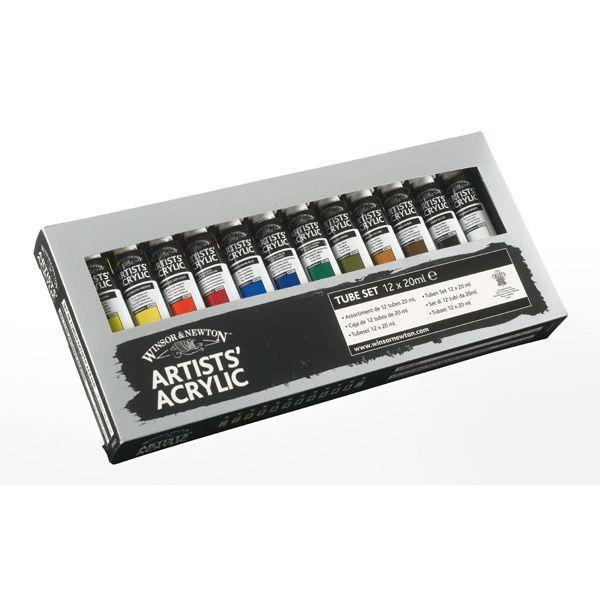 W.N.  SET CARTON 12 TUBES 20 ML ARTISTS' ACRYLIC