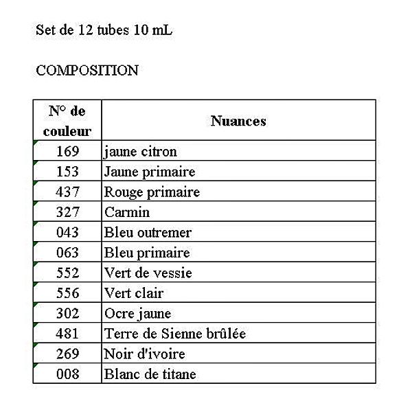 COFFRETS HUILE LA FINE ASSORTIMENT 12 TUBES 10 ML