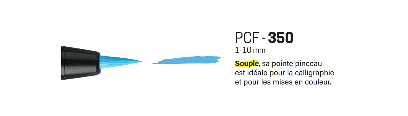 MARQUEUR POINTE PINCEAU SOUPLE PCF-350